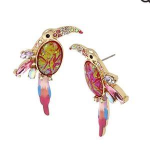 Betsey Johnson Toucan Earrings